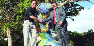 TotalBank donates manatee sculpture to Zoo Miami to promote conservation