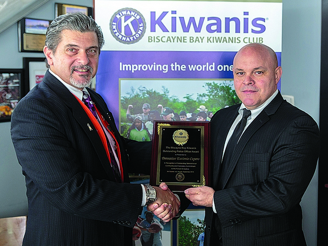 Biscayne Bay Kiwanis names 'Outstanding Police Officer'