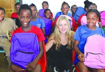 Gulliver student Sabrina Stewart uses summer vacation to help others