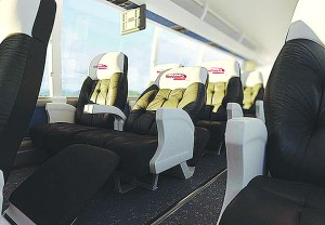 The spacious and extremely comfortable seating on RedCoach.