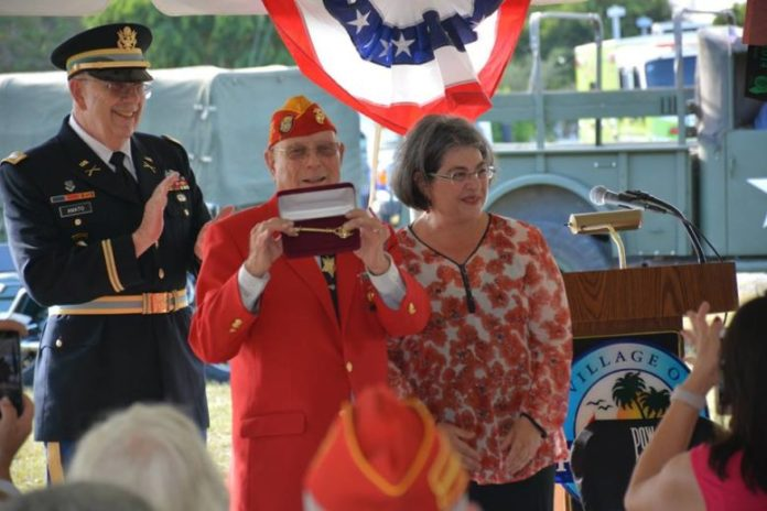 Gold Star Family Memorial ceremony conducted at future Veterans Park