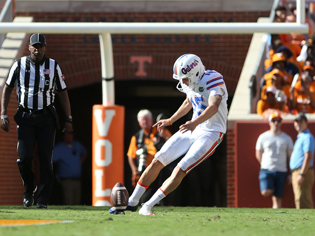 Former soccer player getting his kicks with Gator football