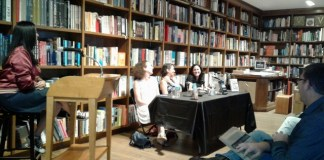 Three best-selling authors appear together at Books and Bools event