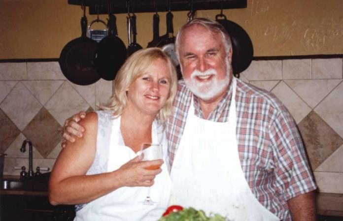 MaryAnn Stahl and Bill Enright taking a cooking class together at Two Chefs. (Photo provided by Wayne Brackin).