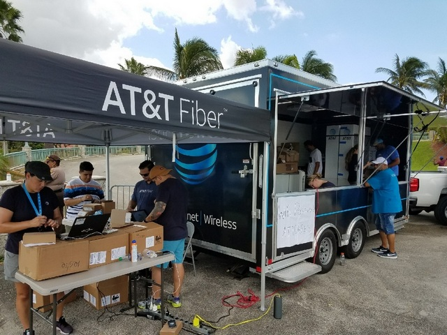 AT&T helps South Floridians stay connected in aftermath of Irma