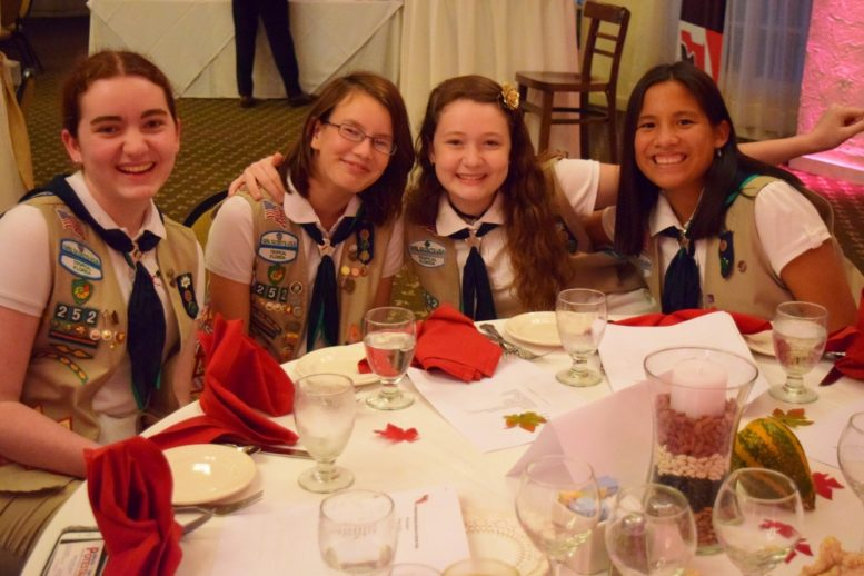Local Girl Scouts participate FRWND meeting ceremonies
