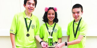 Palmer Trinity Mathletes win FAMAT competition trophy