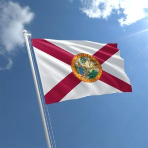 State of Florida Flag waving