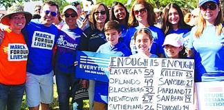 """March for our lives/Caminata por la vida Ciudad del Doral dijo: """"¡NO MAS!"""""""