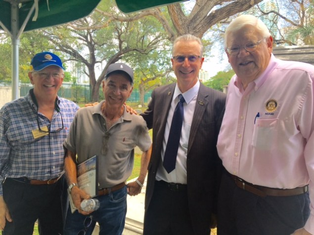 Rotary Club of Miami holds special meeting at Miami City Cemetery