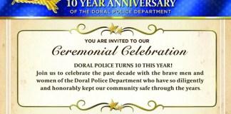 Doral celebra el 10º aniversario de su departamento de policía