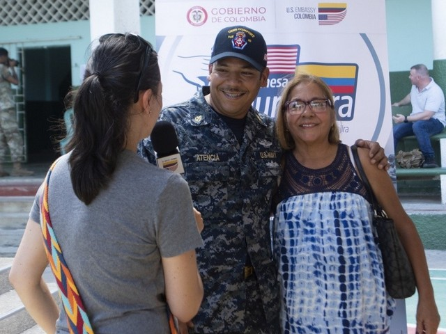 Sailor reunites with aunt in Colombia while participating in medical mission