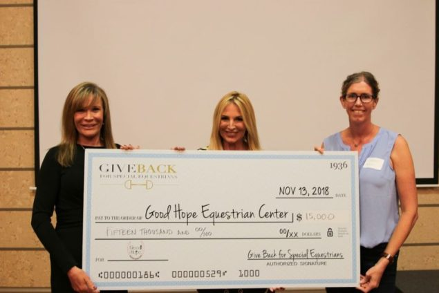 Give Back for Special Equestrians lassoes in $15,000 for disabled