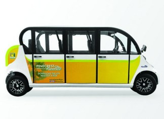 Free green transportation service began January 14th