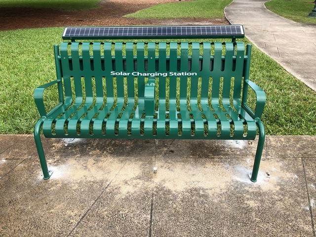 Solar charging benches will keep you connected