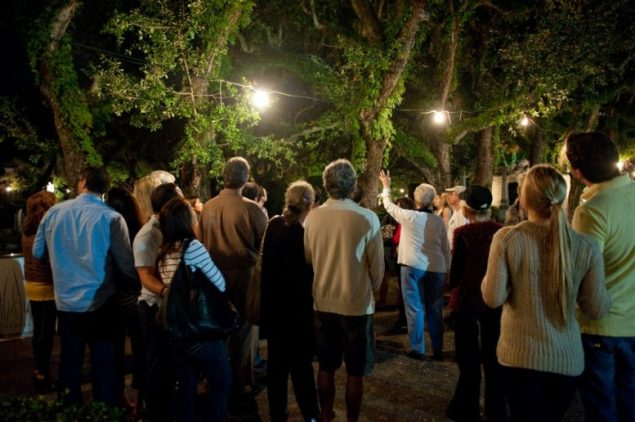 Explore Vizcaya's gardens by the light of the full moon