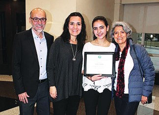 City recognizes Maria Andere for academic excellence and community leadership