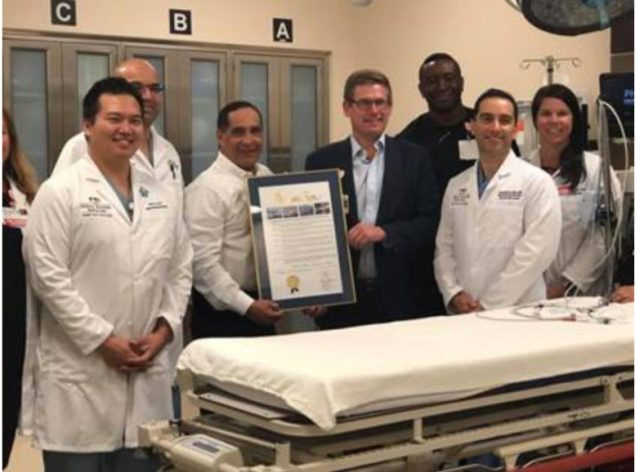 Commissioner recognizes Kendall Regional's Trauma Center on its Level 1 designation