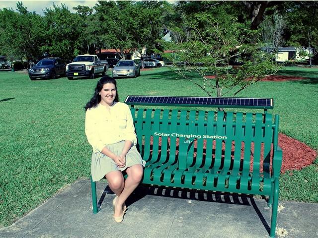Teen's bright idea brings solar power to city's parks