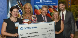 Ocean Bank announces $300,000 commitment to The Education Fund