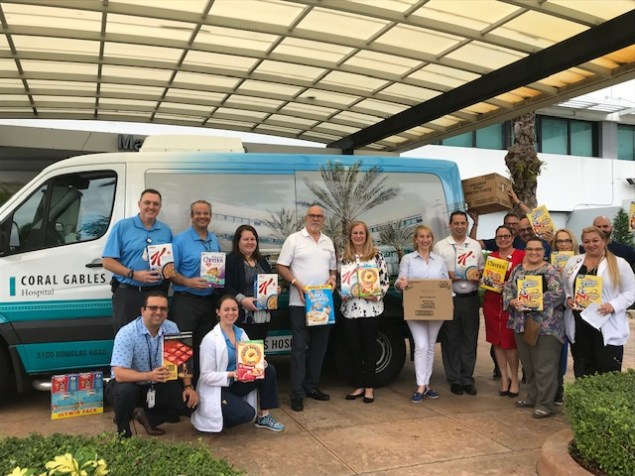 Coral Gables Hospital's Healthy Over Hungry Cereal Drive collects over 38,000 servings
