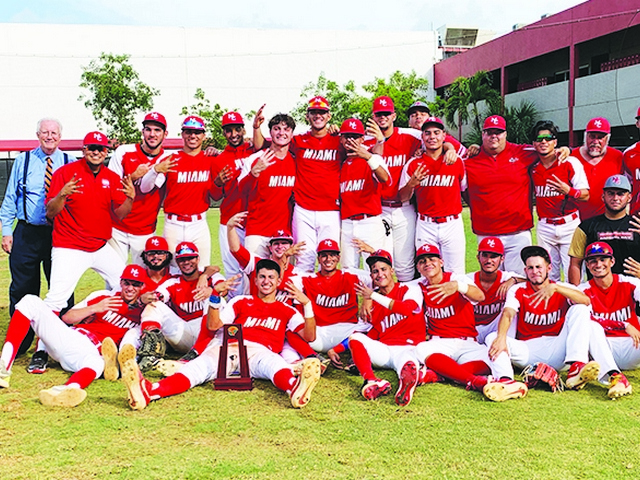 Miami Christian Baseball Team wins another State Championship