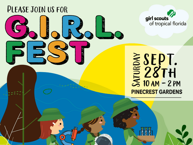 Girl Scouts of Tropical Florida to present GIRL Fest, Sept. 28