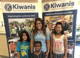 Biscayne Bay Kiwanis Distributes 100 backpacks, school uniforms, supplies