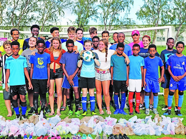 Miami Palmetto Senior High students help children in Barbados