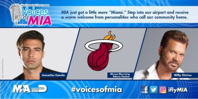 Some of Miami's most famous voices to welcome passengers, visitors at MIA