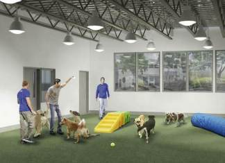 Proposed Humane Society of Greater Miami expansion (rendering of exterior)