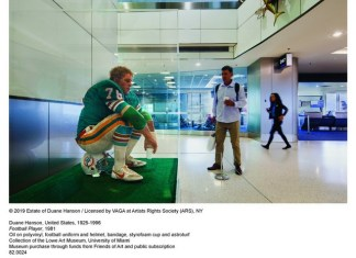Duane Hanson's Football Player on view at MIA through February