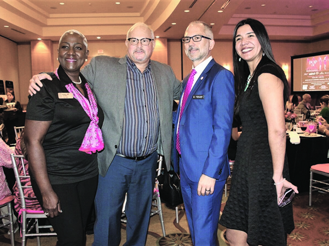 Breast Cancer survivors and supporters gather for 'Pop of Pink' benefit