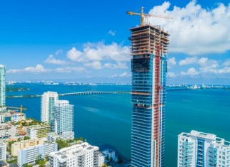 Elysee condominium 'tops off' its construction at 57 stories