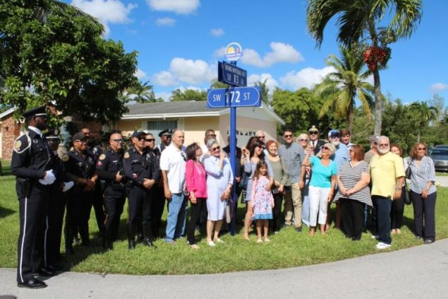 Village honors Irving Whitman with street naming ceremony