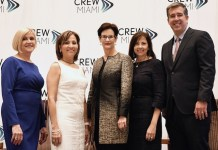 100 guests attend CREW Miami's February program luncheon event