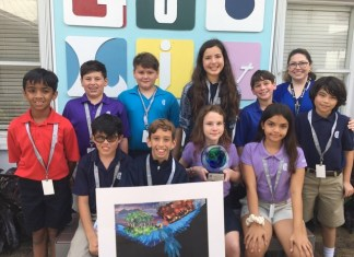 Gulliver Middle School students win Environmental Art Contest