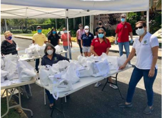 Commissioner's Rapid Response Team helps agriculture community, distributes masks
