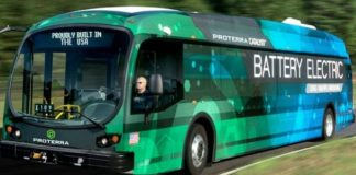 County conducts demonstration ride on new zero-emissions, battery-electric bus