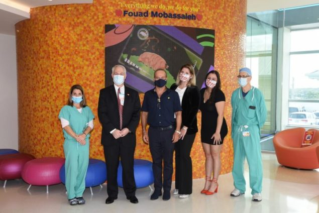 Son's memory honored with naming of neurology unit lobby at hospital