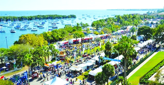 An aerial view of the festival.
