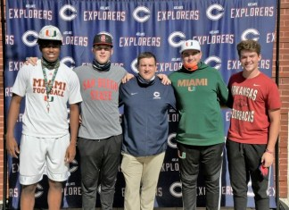 Four Explorers football players sign National Letters of Intent