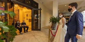 Newlyweds share their wedding day with Palace Coral Gables residents
