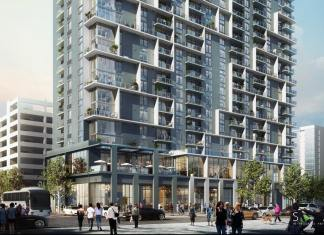 Transit-oriented apartments now are available for lease