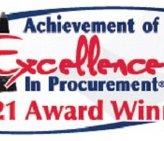 City of Miramar awarded with the presigious 26th Annual Achievement of Excellence in Procurement Award
