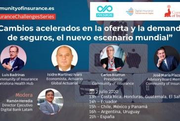 """Webinar: """"Cambios acelerados en la oferta y la demanda de seguros, el nuevo escenario mundial"""""""