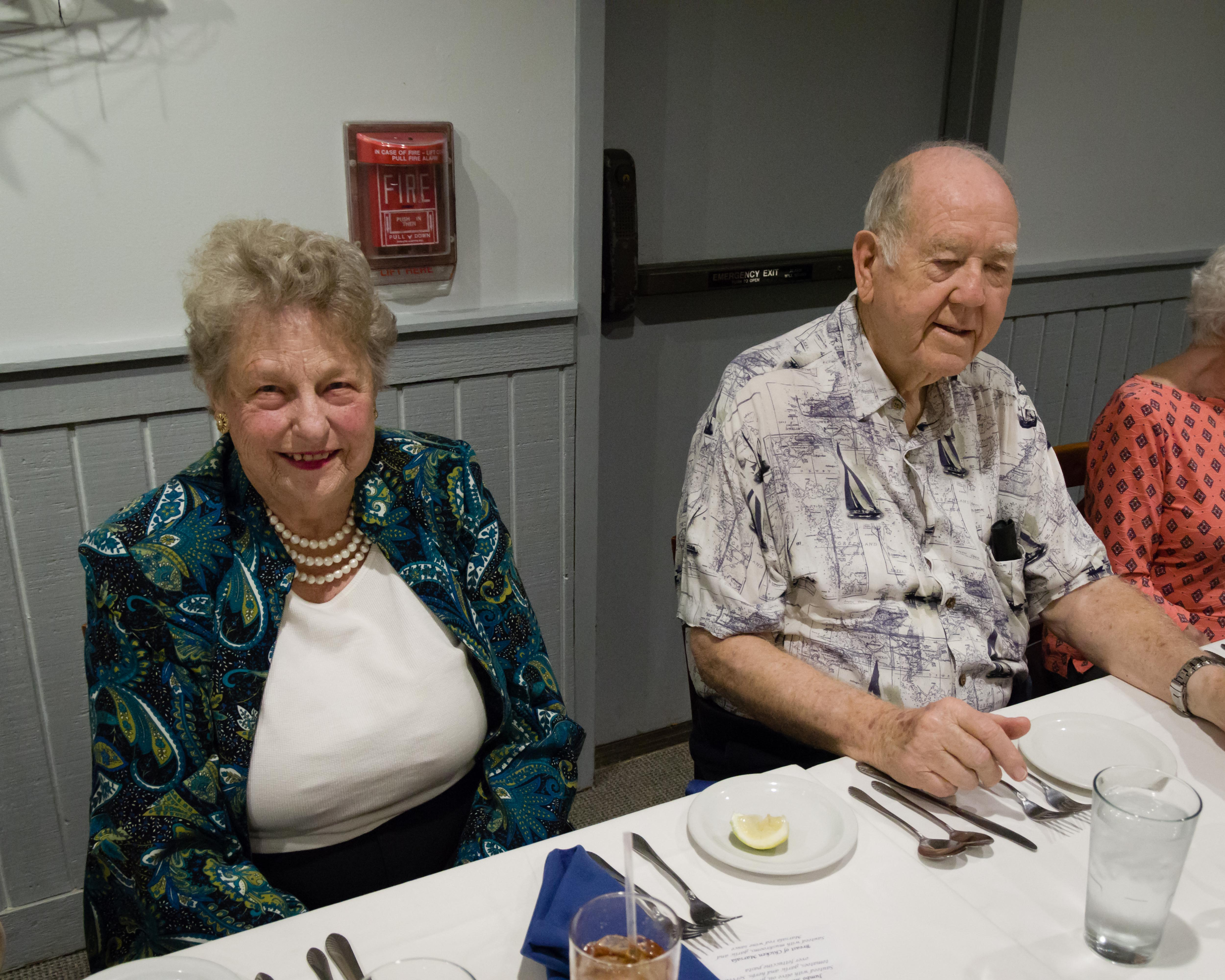 Donna and Glen Myers are ready to eat