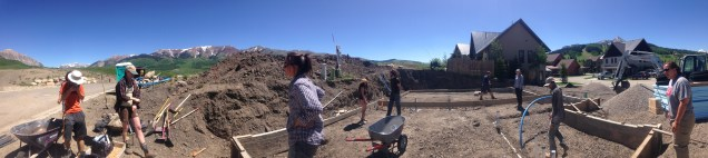We all prepare the foundation for drainage rock.