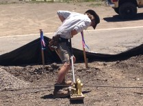 Apprentice Kyle wants to cut the rebar...