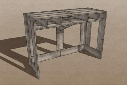 Pallet Desk Render